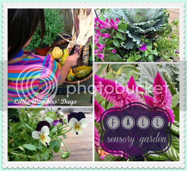 fall sensory gardening with kids