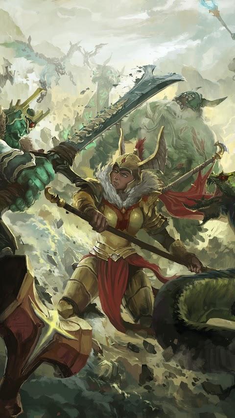 خلفية فلم او لعبة تيتتان بدقة عالية من قتال الملكة مع الشرير hd