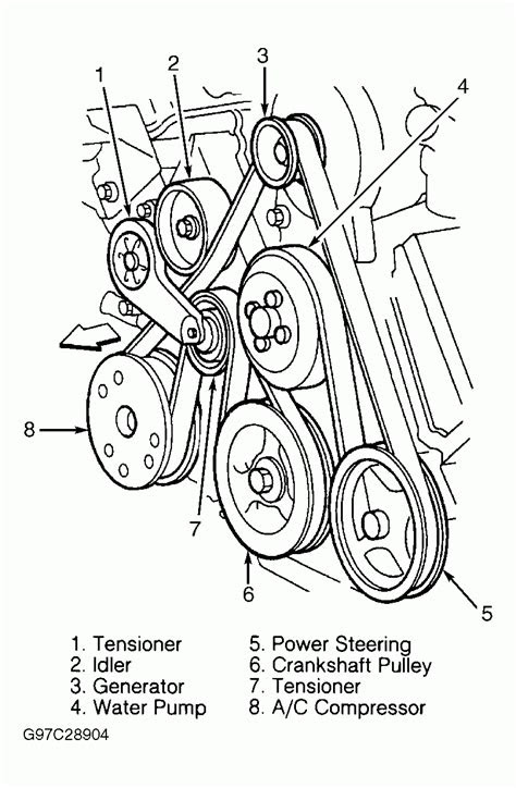 2000 Ford Expedition V8 4.6L Serpentine Belt Diagram