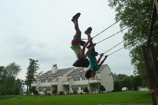 Synchronized swinging