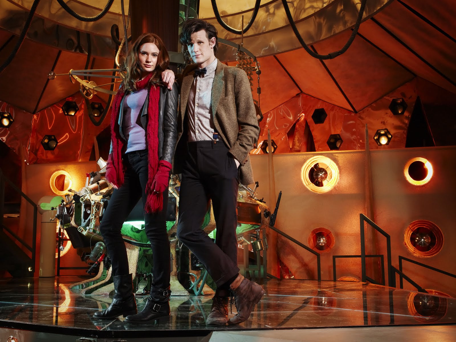 Matt And Karen Doctor Who Wallpaper Karen Gillan And Matt Smith