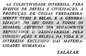 Uma das citações de Salazar publicada num dos volumes da colecção