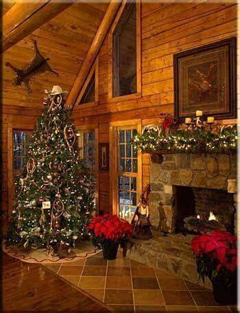 Beautiful, rustic log cabin Christmas decor, so cozy and