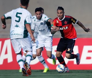 Guerrero Flamengo Goiás (Foto: Francisco Stuckert / Agência Estado)