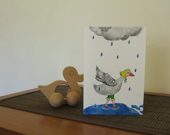 Original illustrated greeting card - Goose