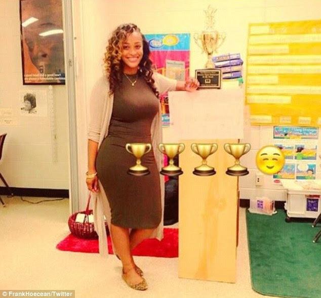 Nữ giáo viên Mỹ gây tranh cãi vì mặc váy          quá bó đi dạy - 2