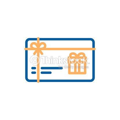 ギフト カード ベクトル細い線アイコン今回のイラストクーポン券