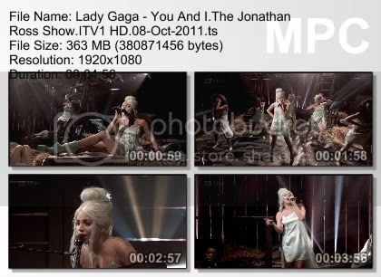 Lady Gaga - You And I (Live Jonathan Ross Show 2011)