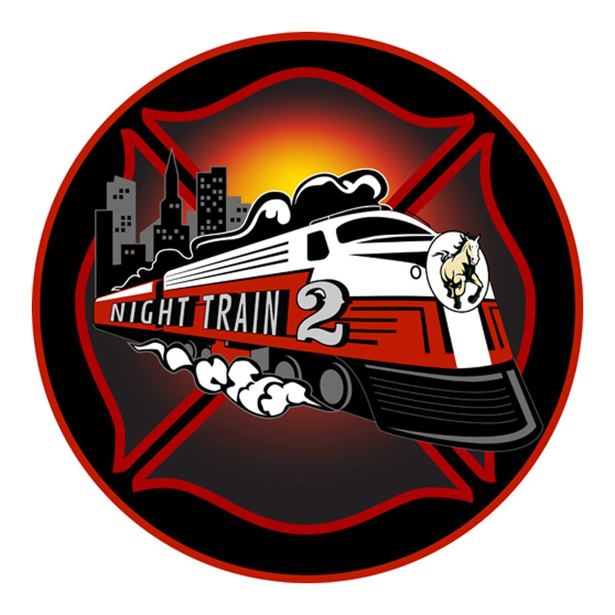 SLO City Fire Night Train Logo