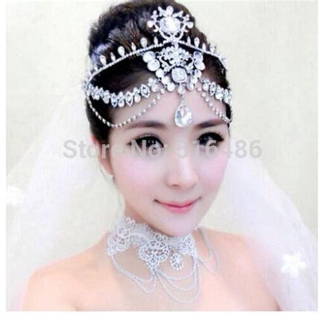 Indian Bridal Headpieces Uk Hair Jewelry Rhinestone