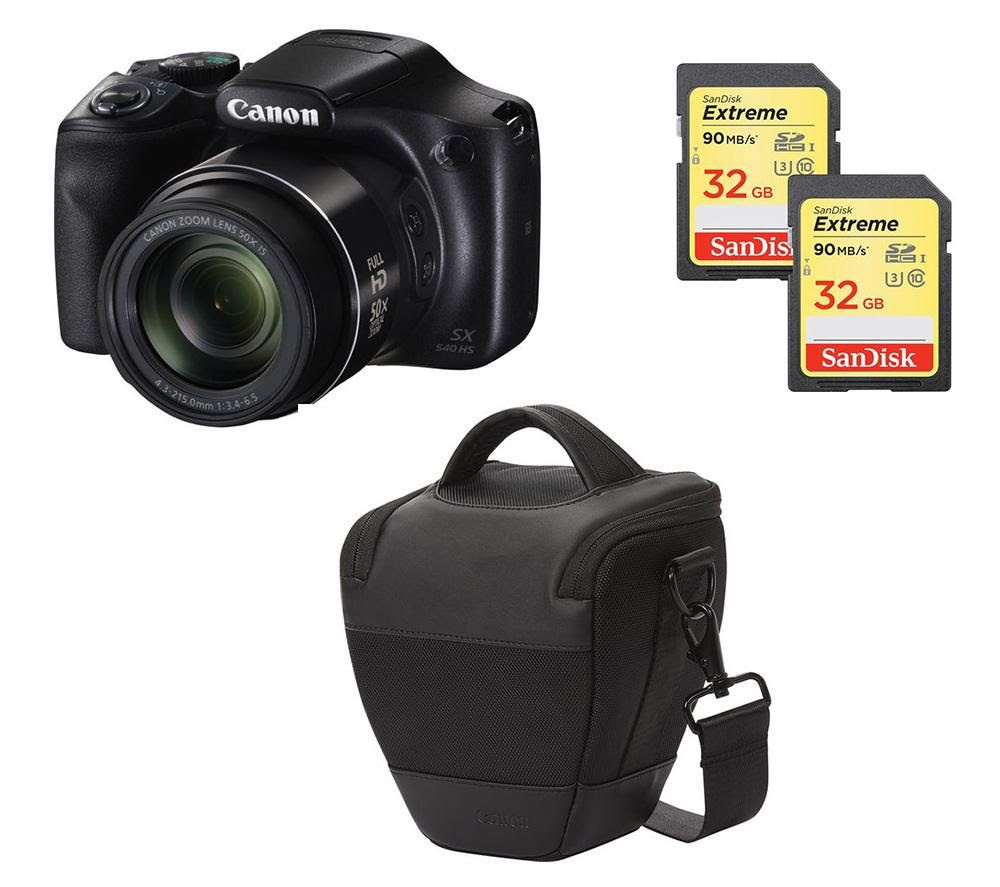 CANON PowerShot SX540 HS Bridge Camera \u0026 Accessories Bundle Deals  PC World