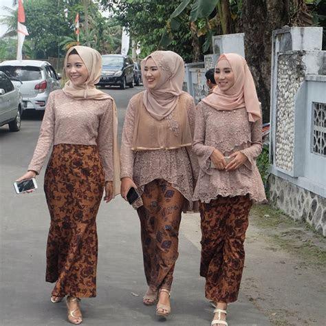 model kebaya brokat hijab  referensi muslimah terupdate