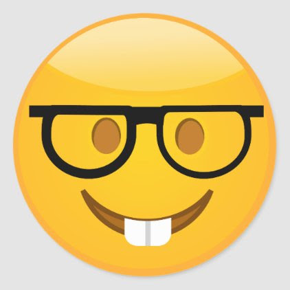 Cute Nerd With Glasses & Teeth Emoji Stickers