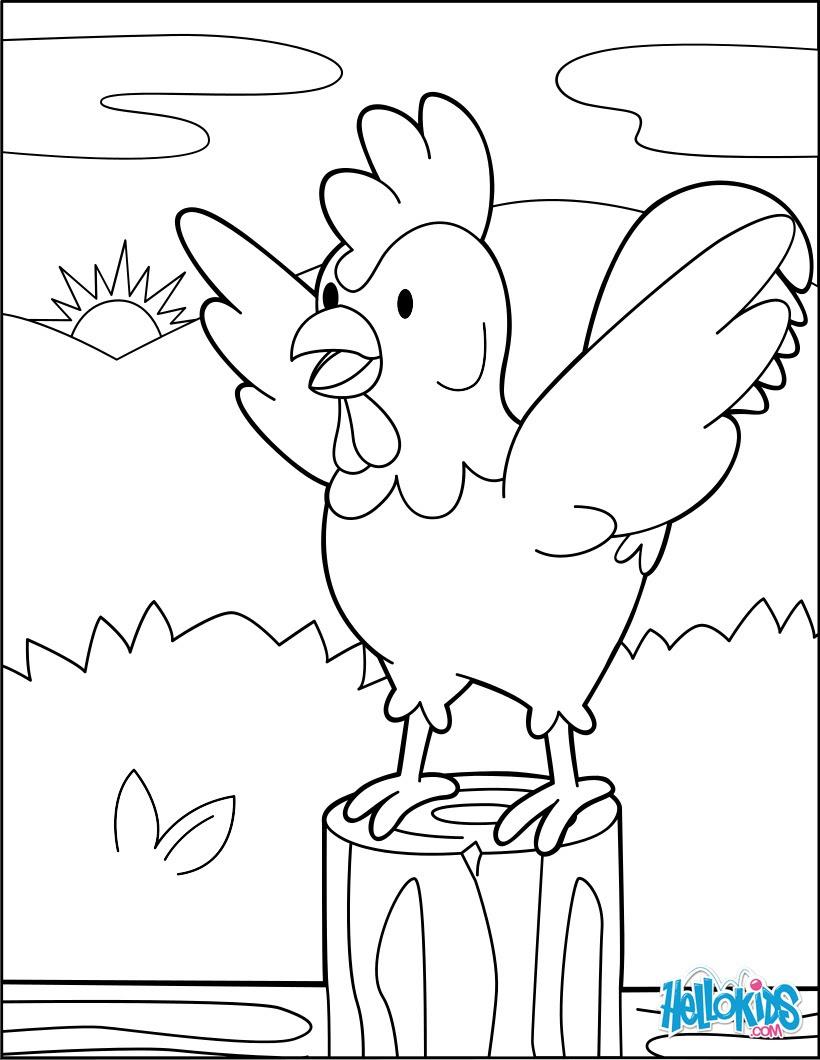 Gallos Animados Para Colorear
