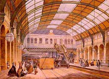 Image of Kings Cross station, Metropolitan Railway, 1863
