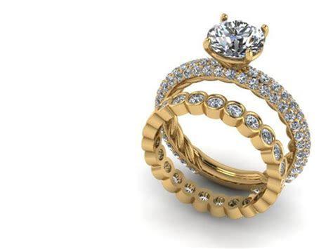Yellow Gold Diamond Wedding Rings Dallas   Shapiro Diamonds