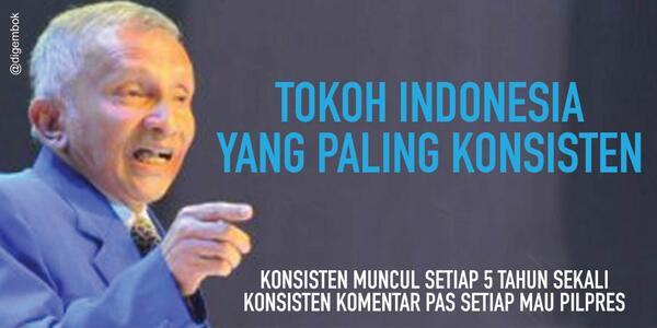 Hasil gambar untuk amien rais jelek Vs Jokowi