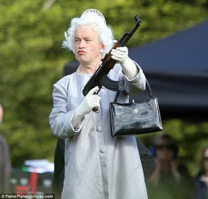 "Queenie to her Privy: ""Get my money or i""ll ""mow you down!"