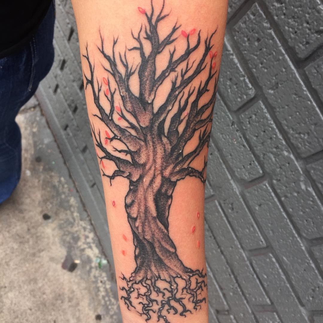 85+ Best Tree Tattoo Designs & Meanings - Family Inspired ...