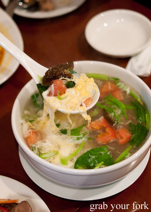 clear egg soup at poplar central asian cuisine crows nest