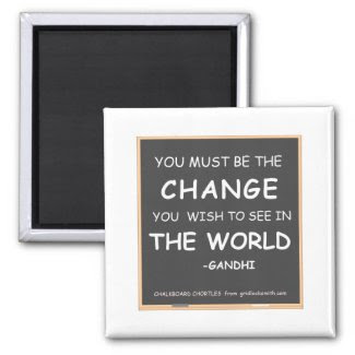 Change-World-Gandhi magnet