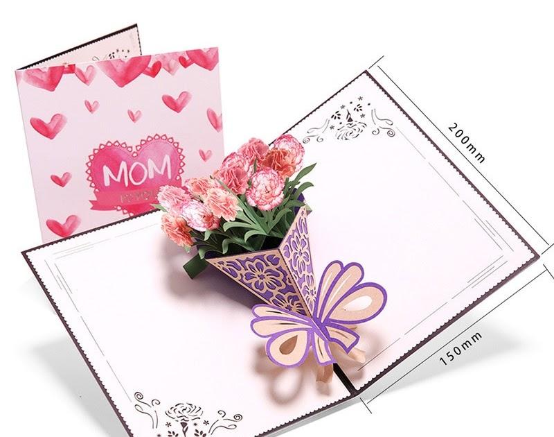 Kartu Ucapan Di Buket Bunga - contoh kartu ucapan