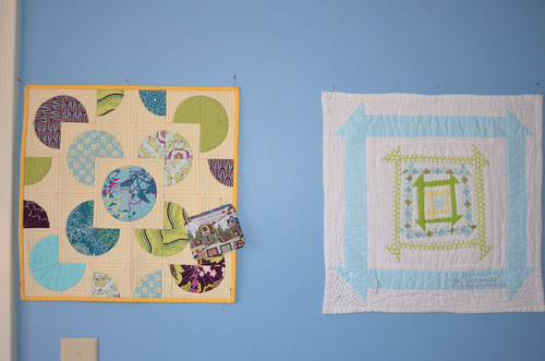The FUNC is hanging out with the pretty wall quilts.