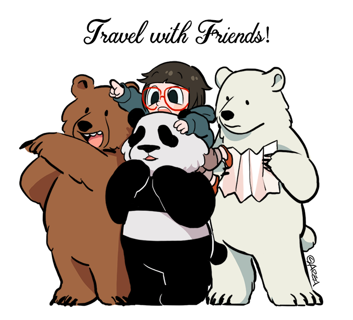 [We Bare Bears] Travel with Friends!