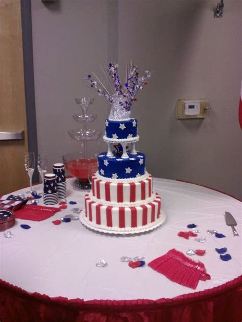 A 4th of July Wedding Cake   Tracy's Cakes   Pinterest