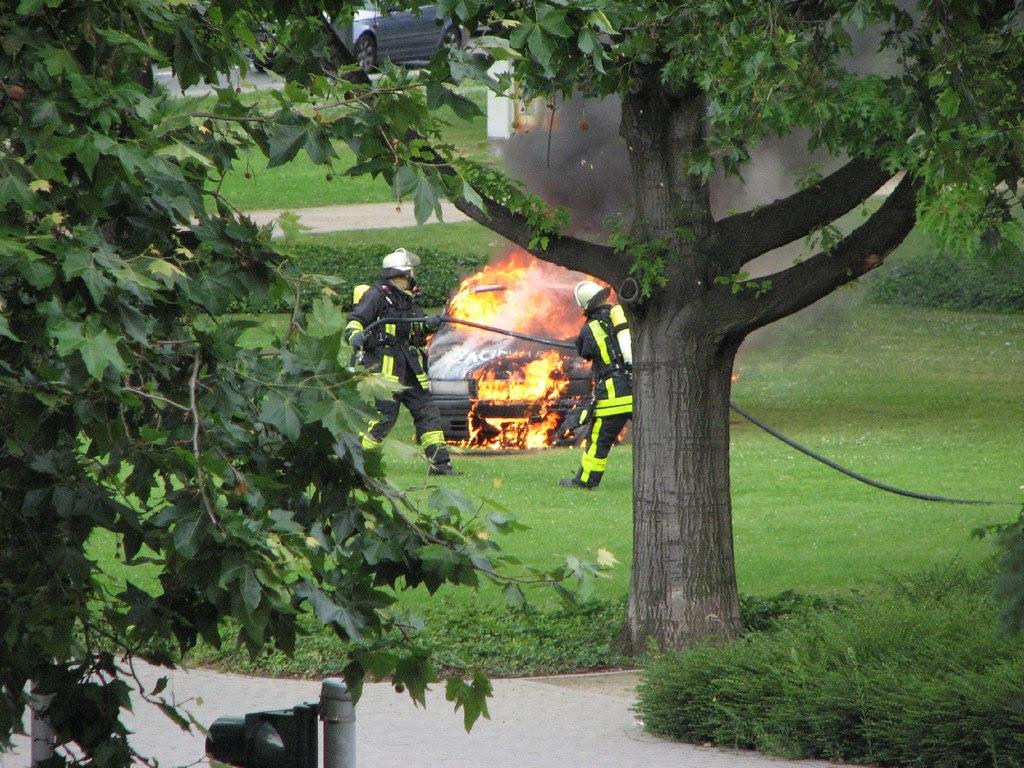 Burning BMW