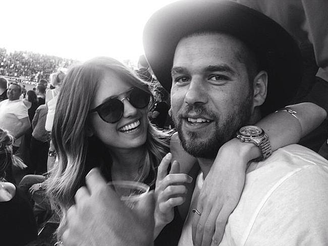 No problem ... Jesinta Campbell says Buddy is a 'perfect gentleman'. Picture: Instagram