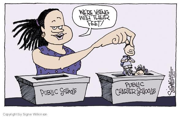 Image result for charter schools cartoons