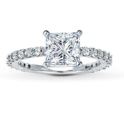 Leo 1.5 carat princess cut diamond with thin Leo diamond