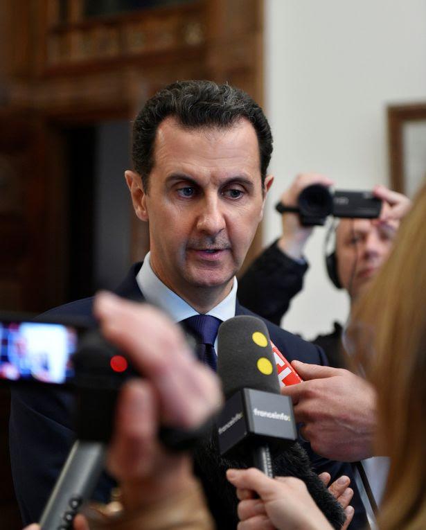 Syria's President Bashar al-Assad speaks to French journalists