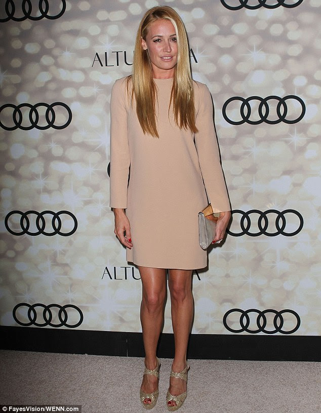 Cat Deeley wears cream gown at the Creative Arts Emmys with ...