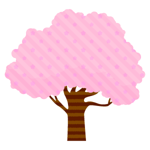 桜の木のセット15 花植物イラスト Flode Illustration フロデ