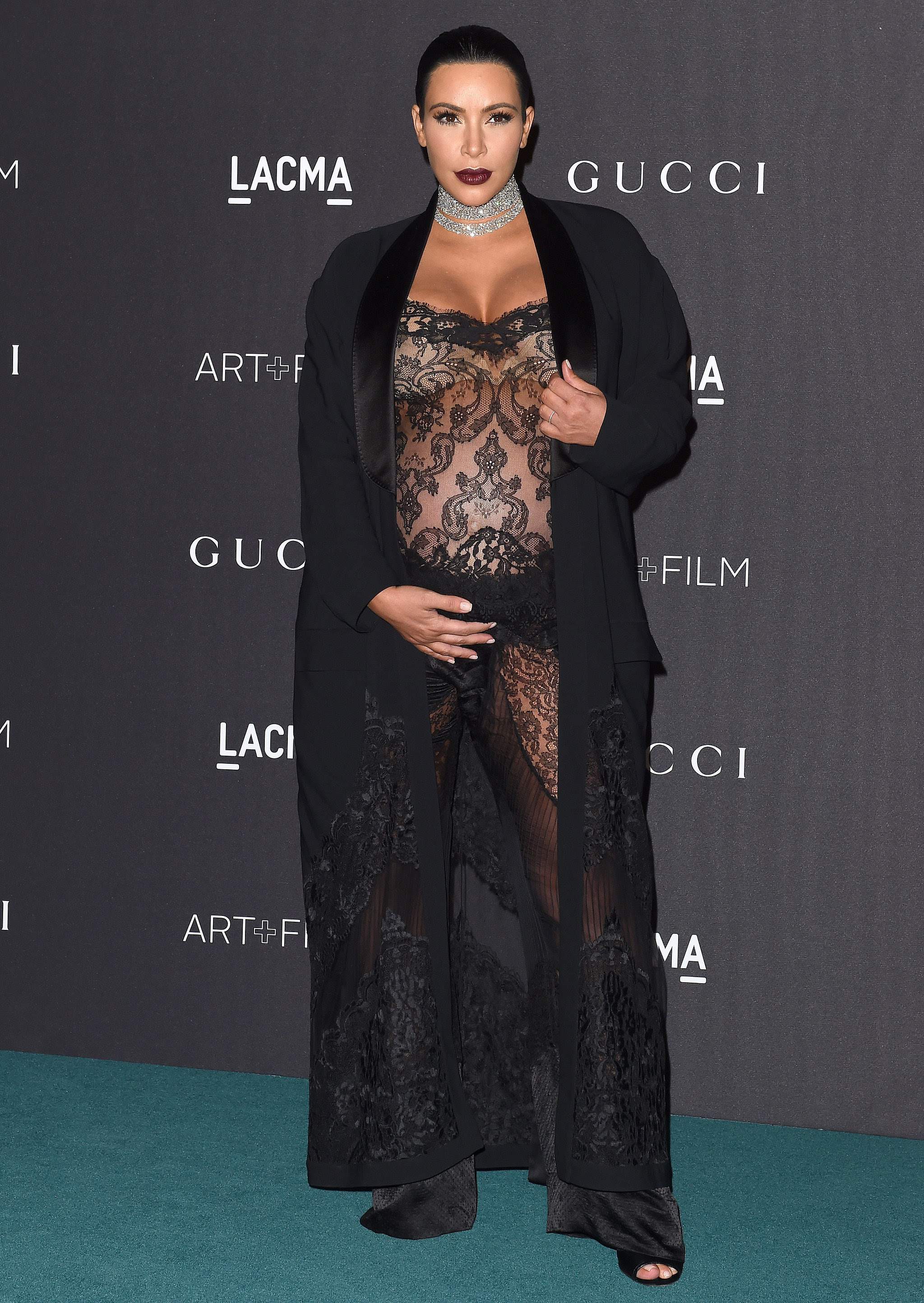 Kim Kardashian Had a Body Double Try On All Her Maternity Clothes