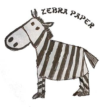 zebra paper on pocket full of therapy