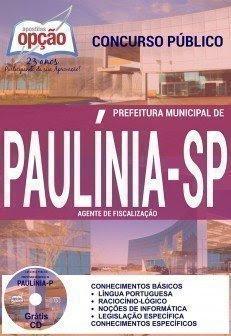 Apostila Concurso Prefeitura de Paulínia (PDF) 2016 - Impressa e digitais