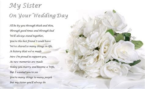SISTER ON YOUR WEDDING DAY   personalised gift   eBay