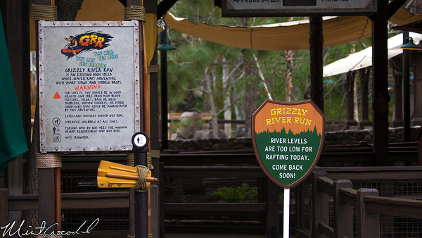 Disneyland Resort, Disney California Adventure, Grizzly River Run, Refurbishment, Refurbish, Refurb, New, Sign