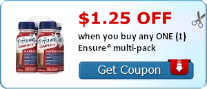 $1.25 off when you buy any ONE (1) Ensure® multi-pack