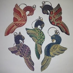 Sketsa Batik Fauna Burung