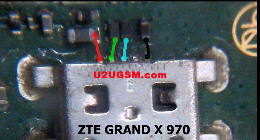 ZTE Grand X V970 Usb Charging Problem Solution Jumper Ways