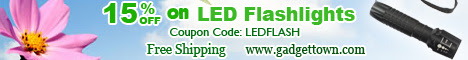 15% off on LED Flashlights at GadgetTown.com