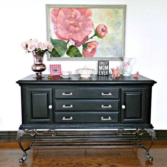 furniture makeovers. Black Credenza Makeover Furniture Makeovers -