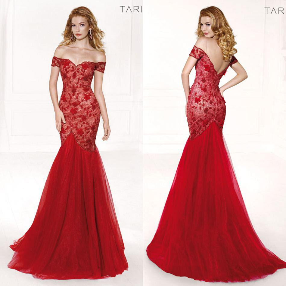 Red evening dress online
