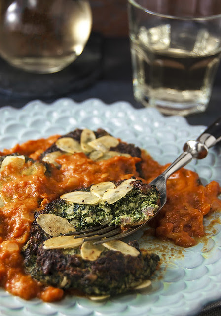 Swiss-chard gnudi with Hazan's onion-butter-tomato sauce I