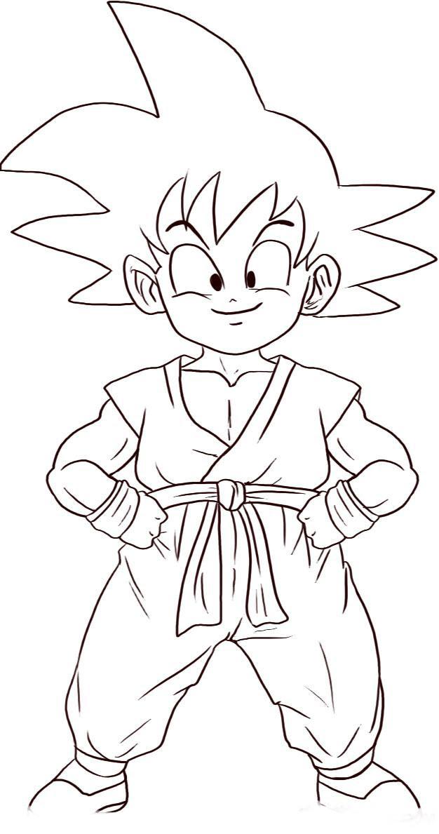 Para Colorear Dragon Ball Z Az Dibujos Para Colorear