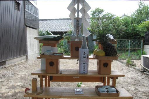 中川の家 地鎮祭